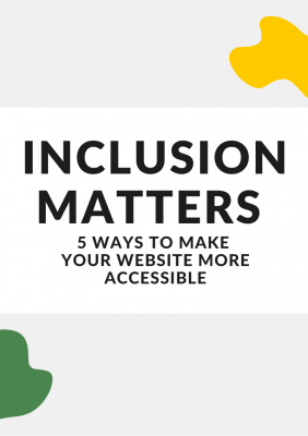 Graphic cover for Inclusion Matters article